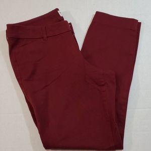 Old Navy Pixie Pants Burgundy Women's Size 6